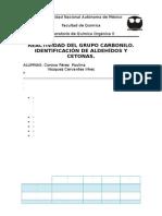 Práctica3. Aldehídos y Cetonas
