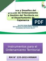 Balance y desafíos del proceso de Ordenamiento y Gestión del Territorio en el Departamento de Cajamarca