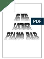 Big Band Lounge Piano Bar