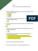 accommodations quiz answer sheet
