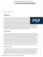 SWOT and Porter's Five Analysis For Shell