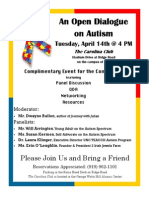 Open Dialogue on Autism 2015 Invitation