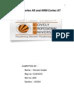 Term Paper Micro Cortex A5 and A7