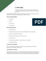 Global Greengrants Communication Internship_Boulder CO