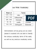campus vocabulary incentive