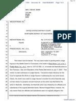 Mediostream Inc. v. Priddis Music Inc. et al - Document No. 16