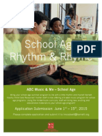 school age rhythm & rhyme