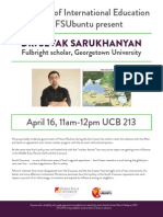 Georgetown Univ Fulbright Scholar