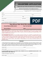 DWB Volunteer Application