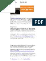 BGOS NDP ENewsletter April 2015