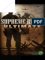 Supreme Ruler Ultimate Game Manual
