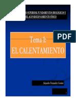 El Calentamiento Alejandro Fernández Gautier
