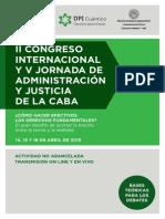 Congreso  Internacional y V Jornada de Administración y Justicia de la CABA