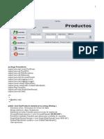 Formulario Productos en java