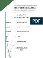 PRACTICA N° 02 DE TECNOLOGIA DEL AGUA