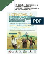 Programa Completo de Las Jornadas de Estudios Campesinos