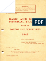 Basic and Battle Physical Training Part 9 Boxing and Wrestling 1945