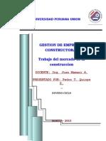 Imvestigacion Acerca Del Mercado de La Construccion