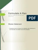 formulate a plan
