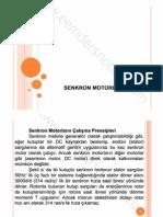 Elektrik Makinaları 2 - Kırklareli Üniversitesi - Senkron Motorlar
