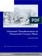 Chromatic Transformations in Nineteenth Century Music (Kopp 2002)