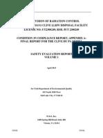 Utah DEQ Safety Evaluation Report Vol. 1