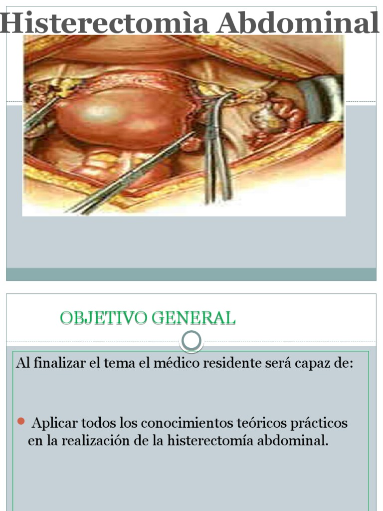 Histerectomia total abdominal