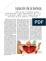 La Contemplación de La Belleza, Ratzinger