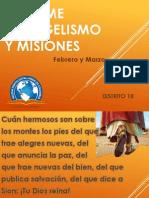 Informe Evangelismo y Misiones Dto 18 - Feb-Mar 2015