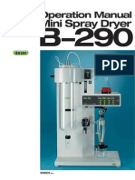 Manual de Operación Mini Sapray Dryer b290