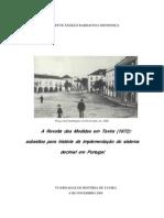 1872-A Revolta Das Medidas Em Tavira