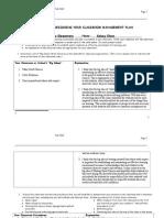classroom management plan graphic organizer