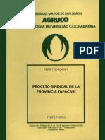 Flores - Proceso sindical de la provincia de Tapacarí.pdf