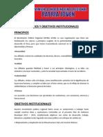 Principios y Objetivos Institucionales