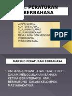 T11 - PERATURAN BERBAHASA