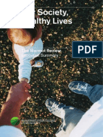 Fair Society Healthy Lives Executive Summary