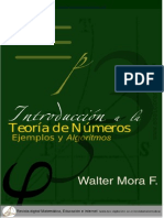 Introduccion a La Teoria de Numeros Algoritmos y Ejemplos