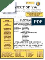 Vietnam Veterans of America Chapter 776 April 2015 Newsletter