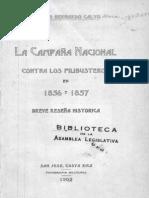 Campaña Nacional Contra Filibusteros 1856 y 1857