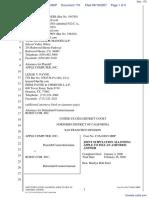 Apple Computer Inc. v. Burst.com, Inc. - Document No. 170