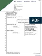 Apple Computer Inc. v. Burst.com, Inc. - Document No. 171