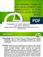 Dampak Hiperglikemia Pada Awal Perkembangan Embrio Dan Embriopati