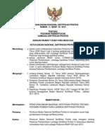 Peraturan Bnsp No 2 Bnsp III 2014