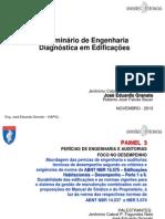 II Seminário de Engenharia Diagnóstica Em Edificações