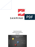 Sanmina Financial Analysis Project