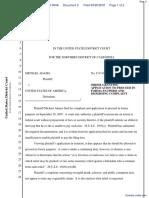 Adams v. United States of America et al - Document No. 5