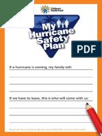 Family Hurricane Plan Childs Checklist