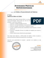 2015 1 CST ADS 2 Sistemas de Banco de Dados