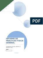 Informe de Practica Curso Fisica General