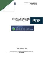 Cuenta de Gestión - Directiva 2005
